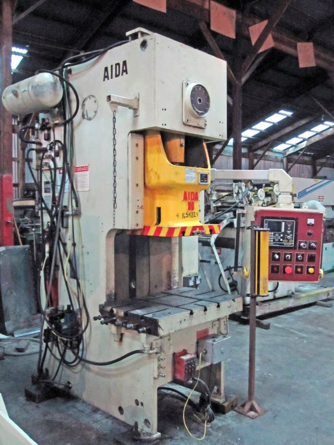 88 Ton Gap Frame Press Aida Model Nc1 80 2