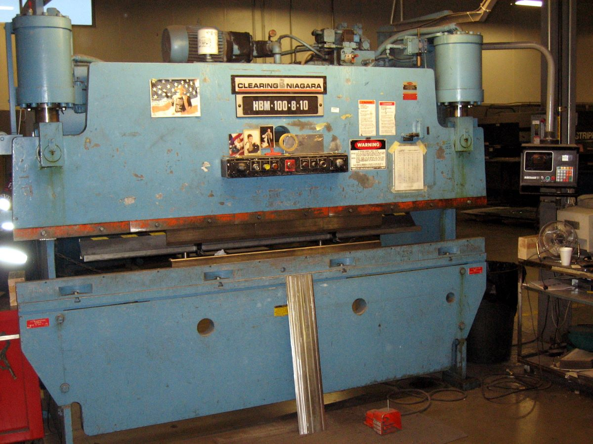 100 Ton Hydraulic Cnc Press Brake Niagara Model Hbm