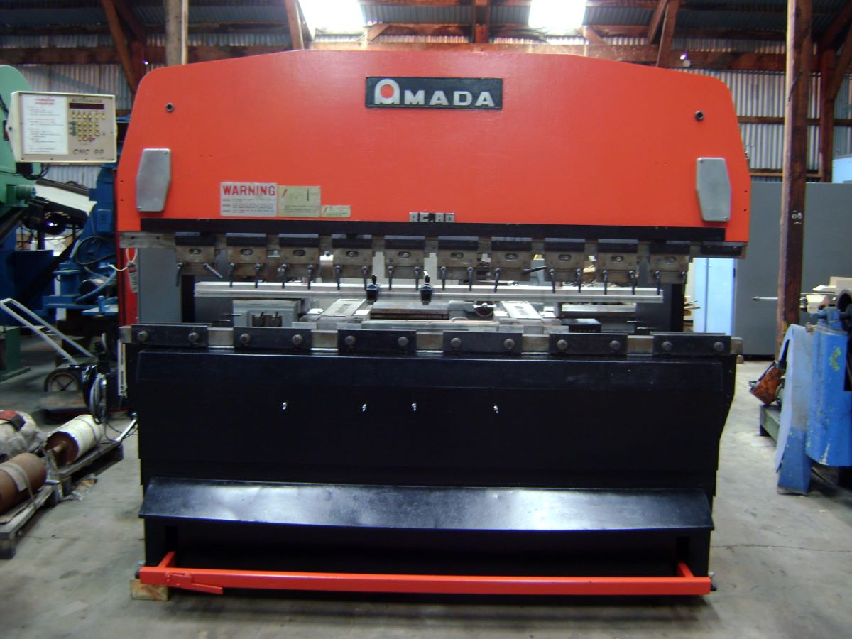88 Ton Hydraulic Cnc Press Brake Amada Model Rg 80