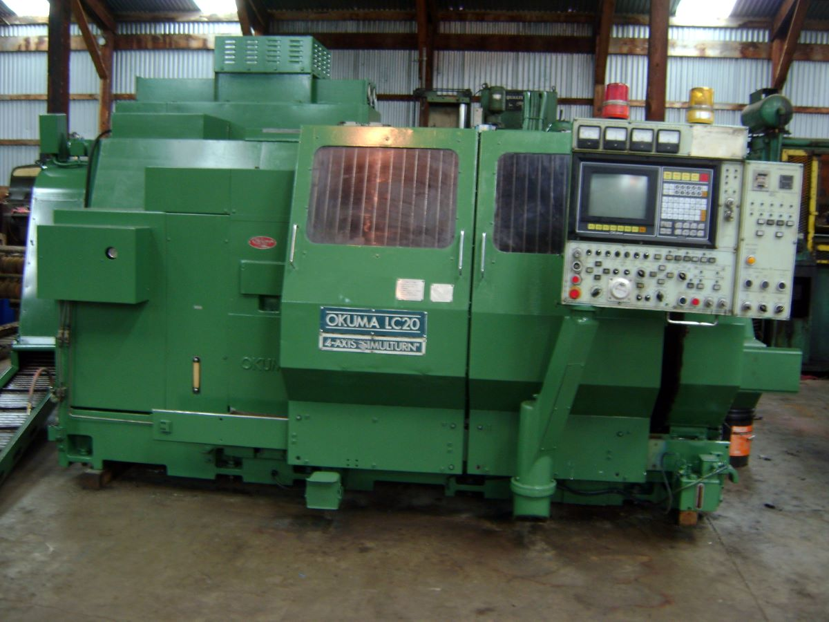 Slant Bed 4-axis CNC Lathe, Okuma, Model LC-20