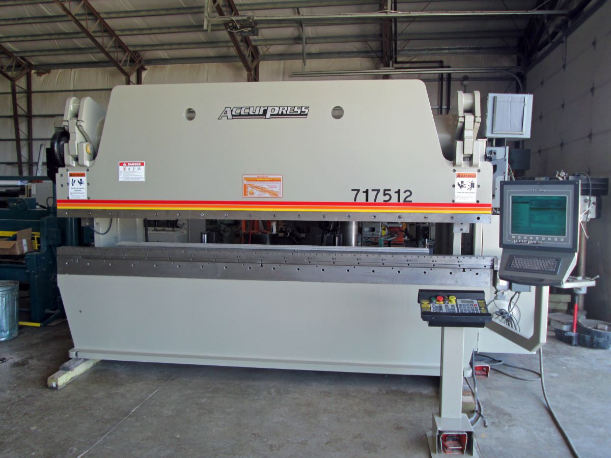 175 Ton Hydraulic Cnc Press Brake Accurpress Model 717512