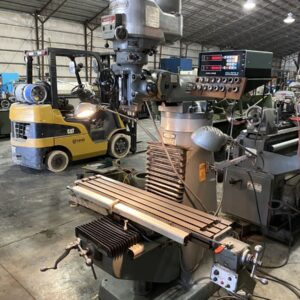 "9"" x 48"" Bridgeport Series I vertical milling machine 
